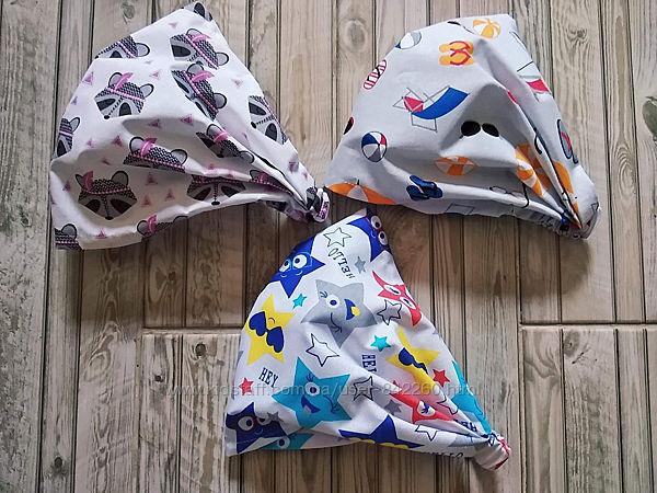Хлопковые косынки на резиночке для девочек