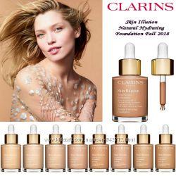 Тональный крем сыворотка Clarins Skin Illusion Foundation - все оттенки