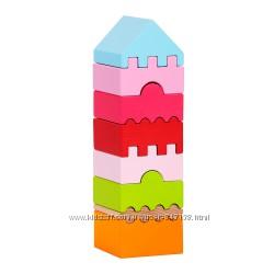 Деревянная пирамидка Левеня Cubika 8 деталей