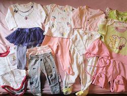 Продам пакет одежды на девочку 0-3 м