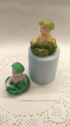 Форма силиконовая 3D для мыла и свечей  Малыш в капусте