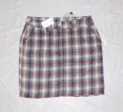 М-L, поб 48-52, теплая новая юбка миди с шерстью M&S