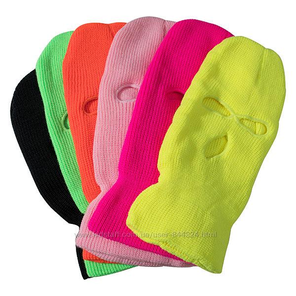 Яркая 6 цветов Балаклава теплая, лыжная, вязаная, подшлемник, шапка