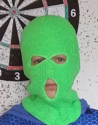 Яркая Балаклава теплая, лыжная, вязаная, подшлемник, шапка