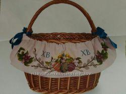 Декор для пасхальной корзины Лента вокруг корзины