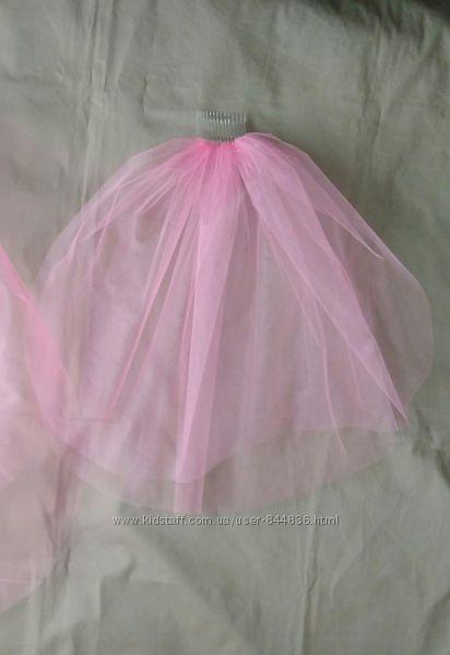 Фата Розовая для девичника 50см