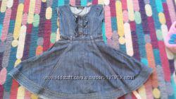 Модное джинсовые платье для девочки