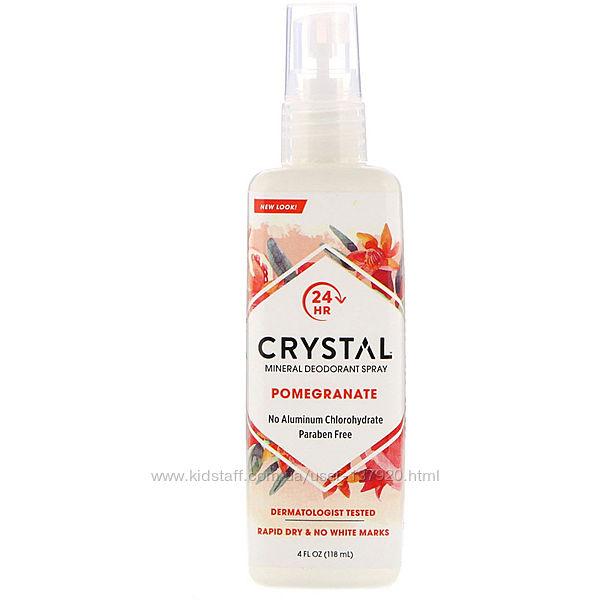 Crystal Body Deodorant, Mineral Deodorant Spray, Pomegranate, 118 мл