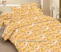 7823 Мишки на сотах ранфорс КПБ с 2-мя наволочками 1, 5 спальный