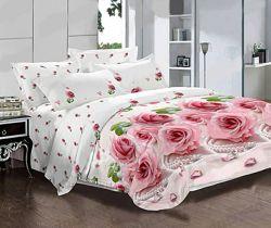 Розы маки комплекты постельного белья Тиротекс 1, 5сп, 2 сп, евро, семья