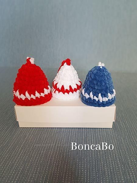 Новогодние украшения для елки Колокольчики. Плюшевые игрушки на елку