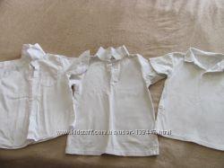 Белые рубашки поло и шведки в школу