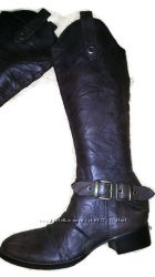 Luis david зимние женские черные сапоги из натурального набука и теплого меха на скрытой танкетке