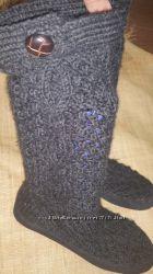 38-39р-26 см шерстяные сапоги Ruby Brown Holland верх шерстяная вязка