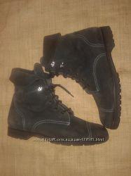 86a71050 39-26см замша на овчине серые ботинки Sofi Gezzio внутри овчина высота на