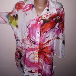 42р -100  коттон новая блуза Verese очень красивая легкая на жару