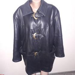 очень большой размер куртка кожа утеплена Vinci Made in Italy рукав от плеч