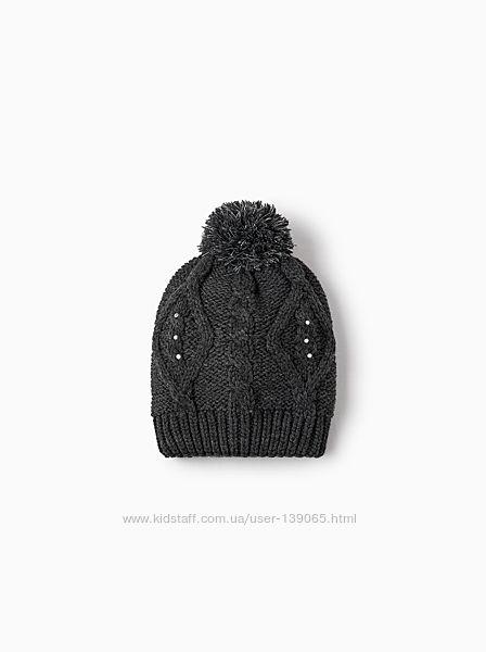 Зимняя шапка Zara для девочки 4-8лет