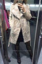 Пальто кашемир и натуральный мех