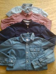 Фирменные рубашки на мальчика 8-10 лет