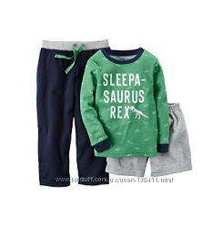 Пижама тройка carters для мальчика 3Т