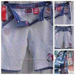 Бриджи молодежные джинсовые  крутые на талию 72-76см