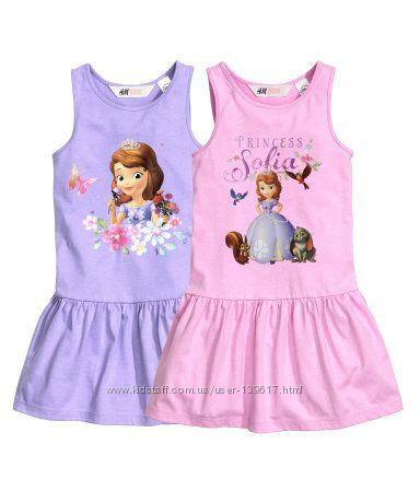 Летнее платье Disney София от H&M для девочки 6-8 лет лет