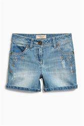 Джинсовые шорты Next для девочки 7-8-9 лет