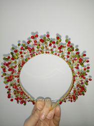 Обруч- корона с хрусталем