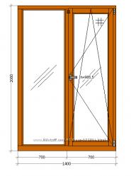 Дубовое окно 1400х2080 по себестоимости