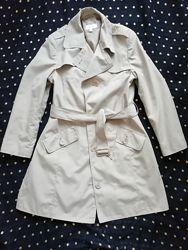 Плащ, Marks & Spencer, пальто, тренч, оливковый, деми