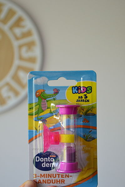 Dontodent 3-minuten-sanduhr - пісочний 3-хвилинний годинник для дітей