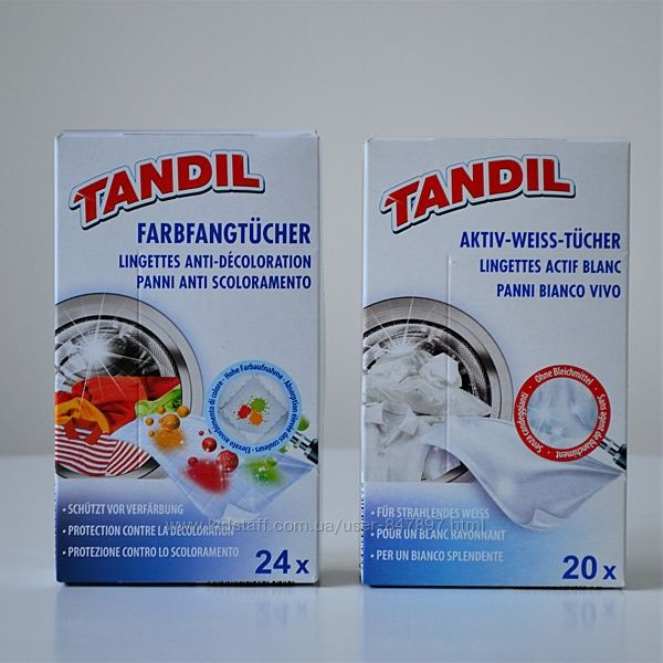 Tandil хустки для прання що запобігають линянню - 20шт або 24 шт