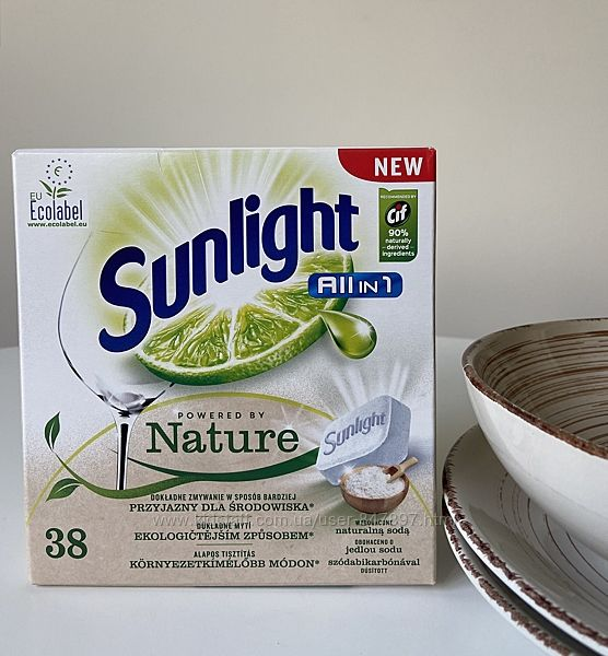 Sunlight all-in-one powered by Nature таблетки все-в-одному - 38 шт еко