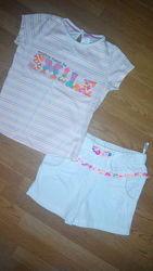 Футболка и шорты, комплект новый на 2-3 года,92 см, baby club
