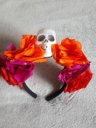 Хэллоуин венок Роза и череп