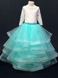 Платье нарядное красивое, эффектное для девочек от 4 до 7 лет-6 цветов-Хит