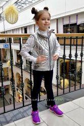 Жилетка утепленная металлик Лол для девочек от 116 до 140 р-Новинка 2019