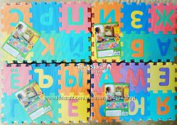 Коврик-пазл с буквами 36 элементов алфавит абетка