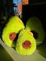 Плюшевая мягкая игрушка подушка антистресс Авокадо 20 и 30 см