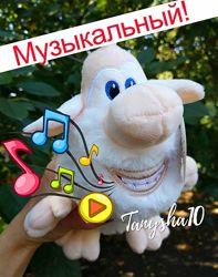 Музыкальная мягкая игрушка домовенок Буба мультяшный гномик 2 размера