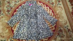 Леопардовое пальто на 3-5 лет