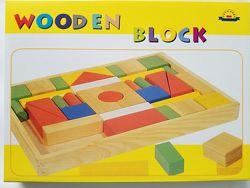 Деревянный конструктор, деревянные кубики. Wooden block