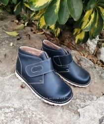 Демисезонные кожаные ботинки.