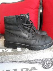 Ботинки зимние на мальчика Mida натуральная кожа, нубук 23 см