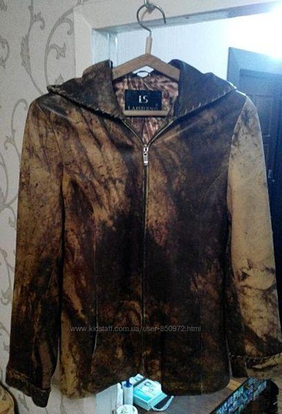 Кожаная курточка натуральная 50-52 торг