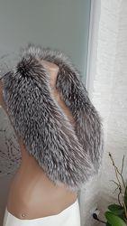 Новый меховой воротник чернобурка