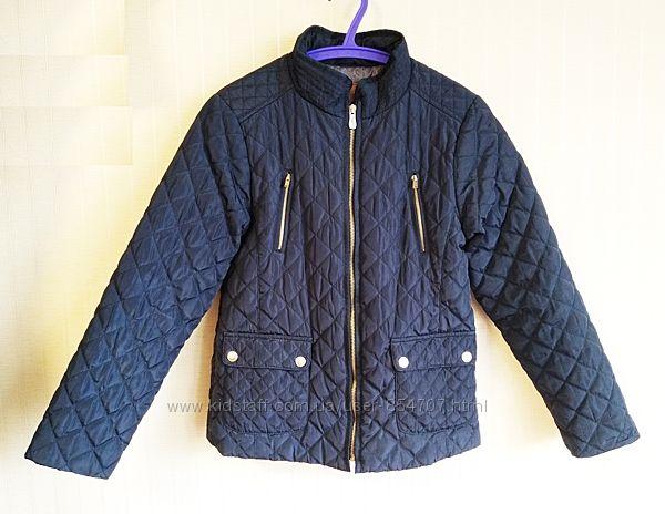 Куртка детская демисезонная стеганая синяя Zara Girls размер 152