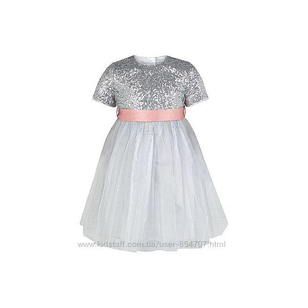 Платье детское праздничное нарядное Monsoon Silver размер 80 см 12-18 мес