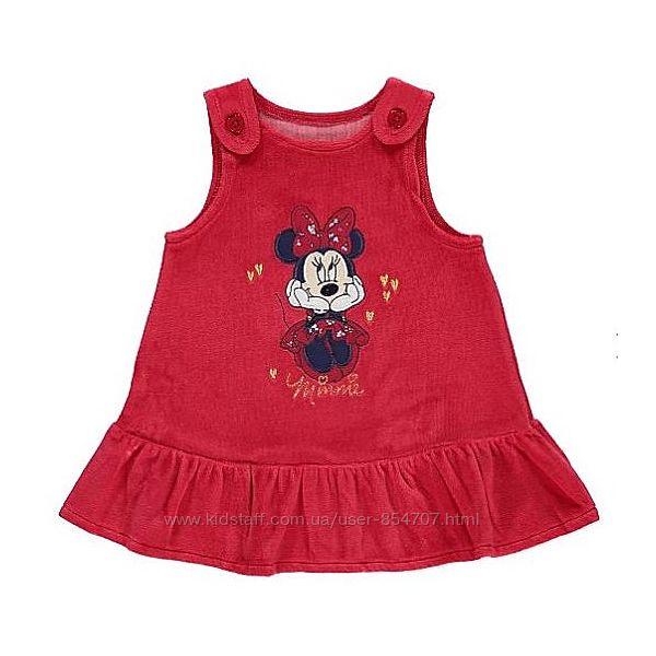 Комплект детский платье сарафан футболка Minnie Mouse George размер 68-74